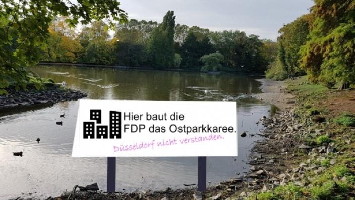 Jetzt wissen wir auch, warum die FDP 2019 in der BV7 gegen unseren Antrag zur Sanierung des Ostparkweihers gestimmt hat.